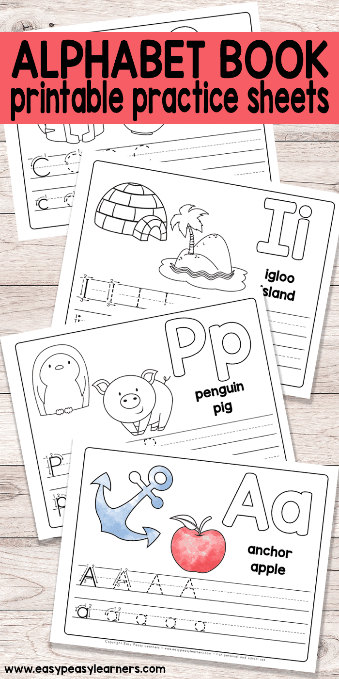 Free Printable Alphabet Book For Preschool And Kindergarten | All