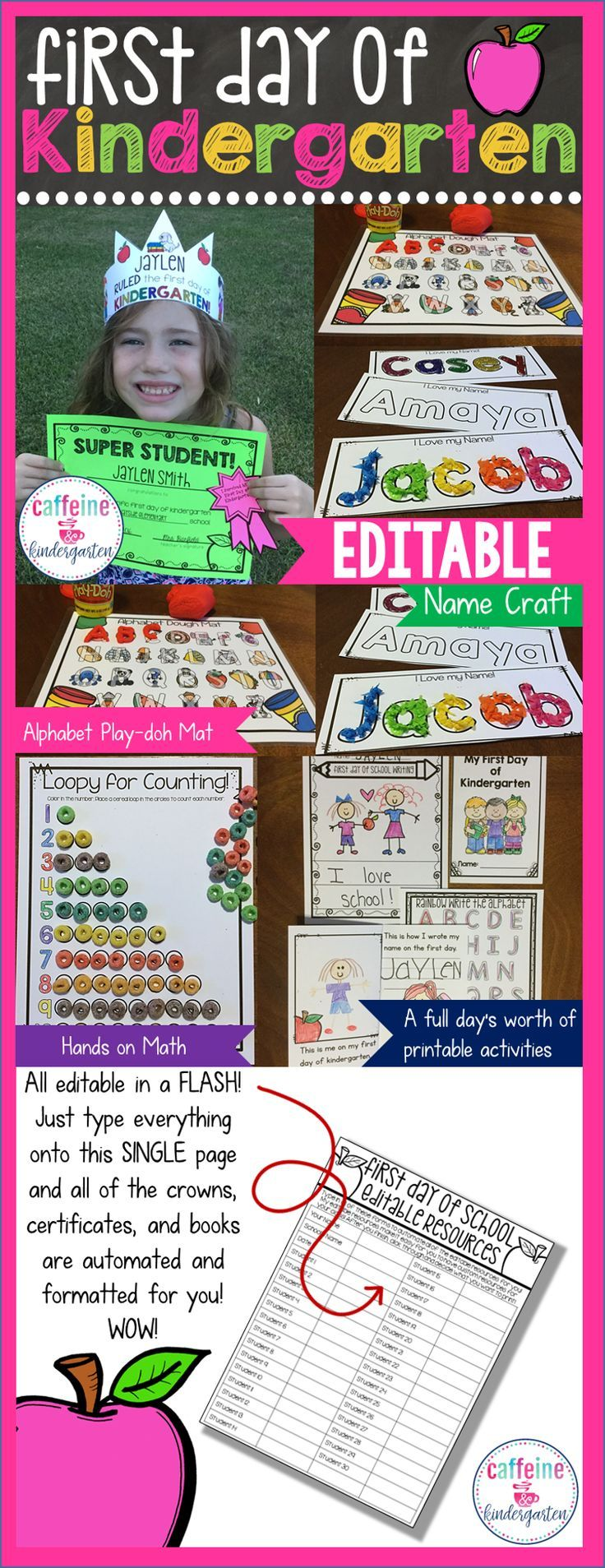 First Day Of Kindergarten Lesson Plans, Activities For The Whole Day