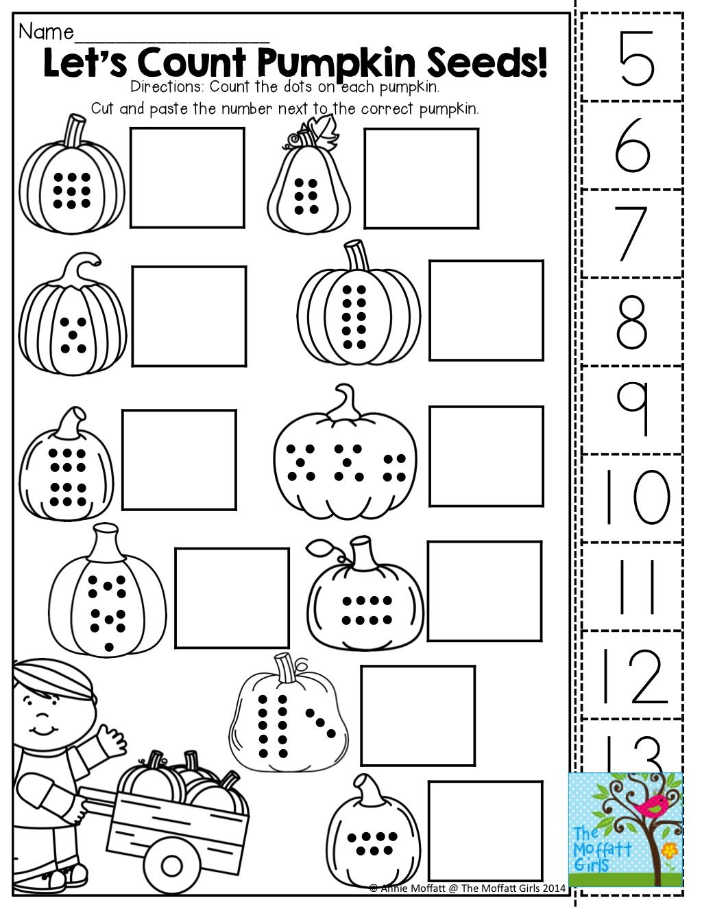 Count, Cut And Paste! Tons Of Fun Printables! | Kindergarten