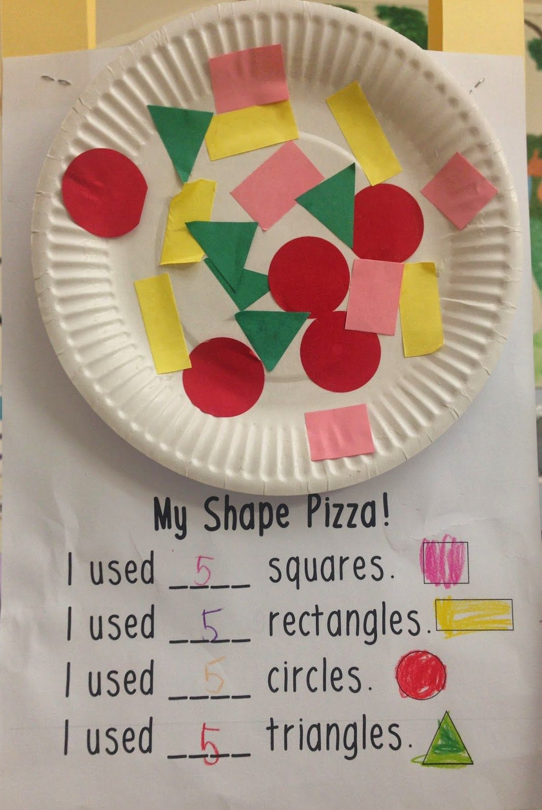Make A Shape Pizza To Practice Shapes! Math For Kindergarten | Fun