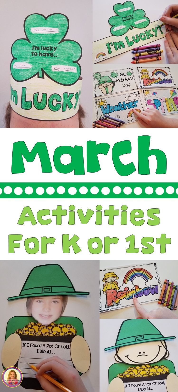 March Activities For Kindergarten Or First Grade St Patrick's Day