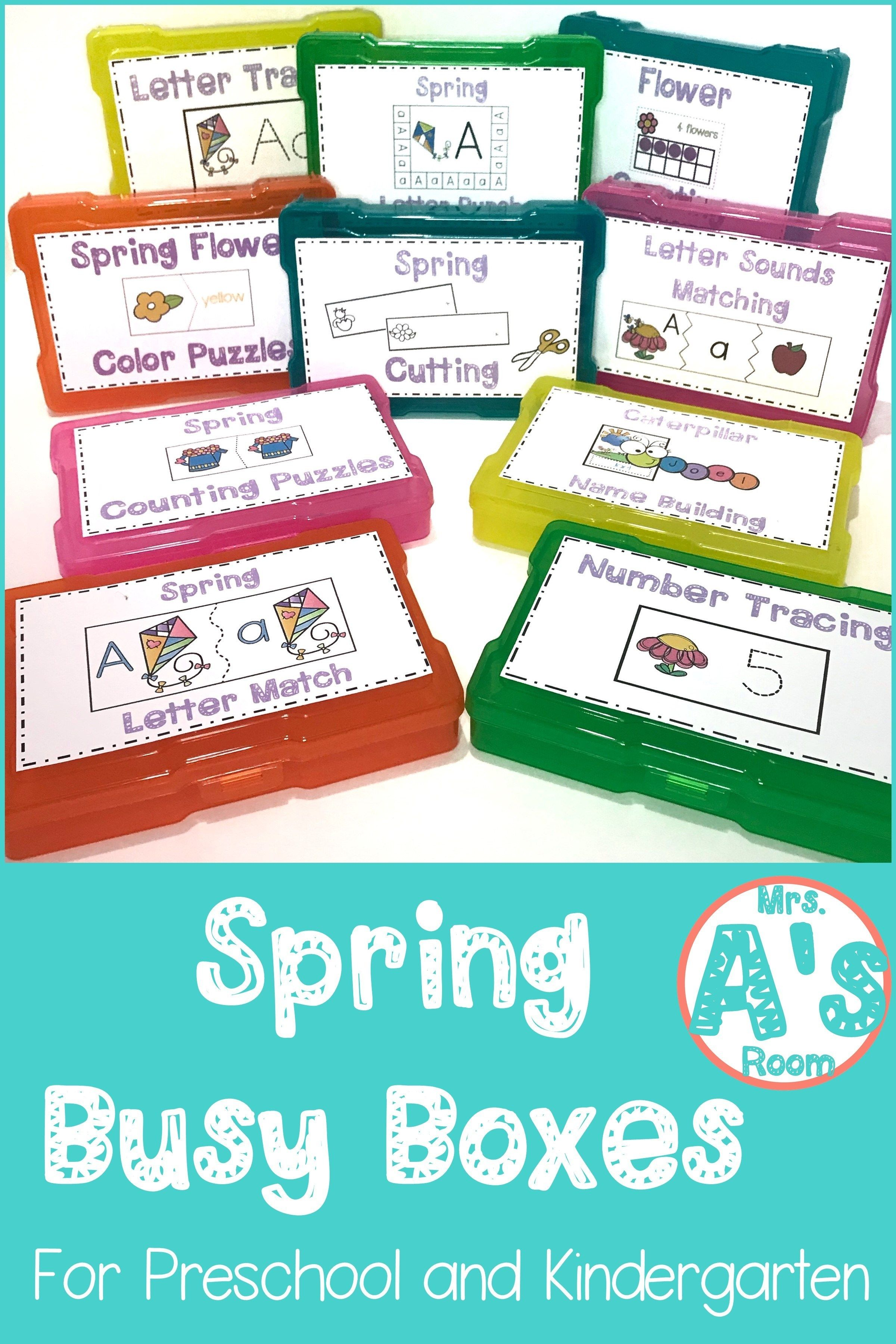 Spring Busy Boxes For Preschool And Kindergarten | Activities | Busy