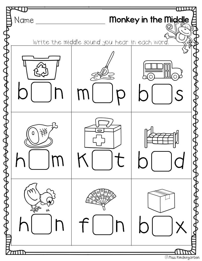 Super Cvc Practice! | Teaching Ideas | Kindergarten Worksheets, Miss