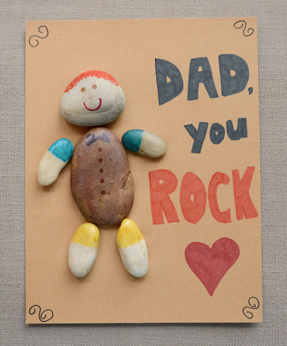Dad Rocks: Father's Day Craft | Kindergarten Art And Provocations