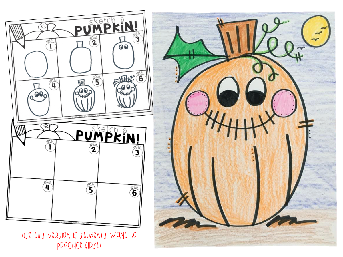 Pumpkin Directed Drawing | Reading | Kindergarten, Classroom, School