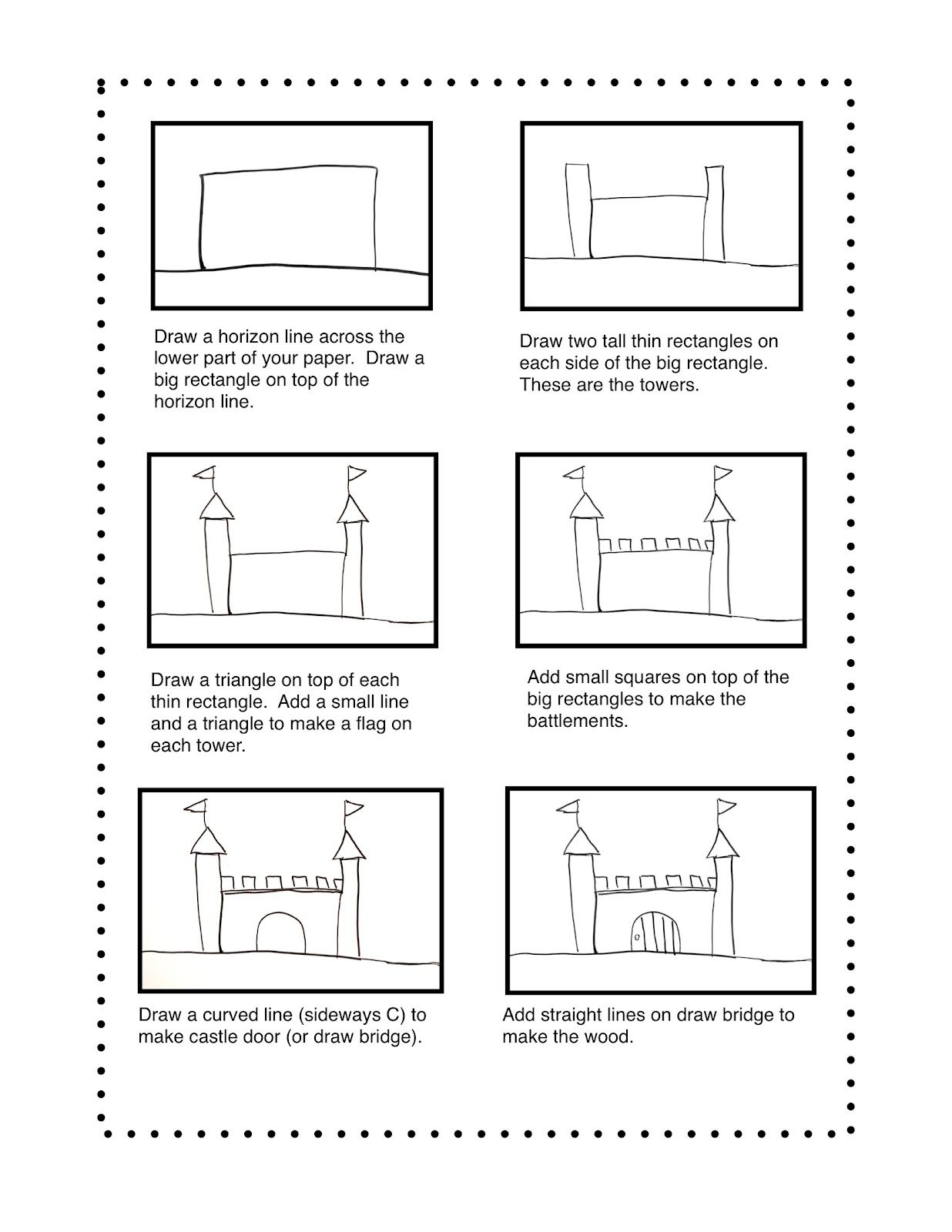 Fairy Dust Teaching Kindergarten Blog: Drawing Castles | Castles
