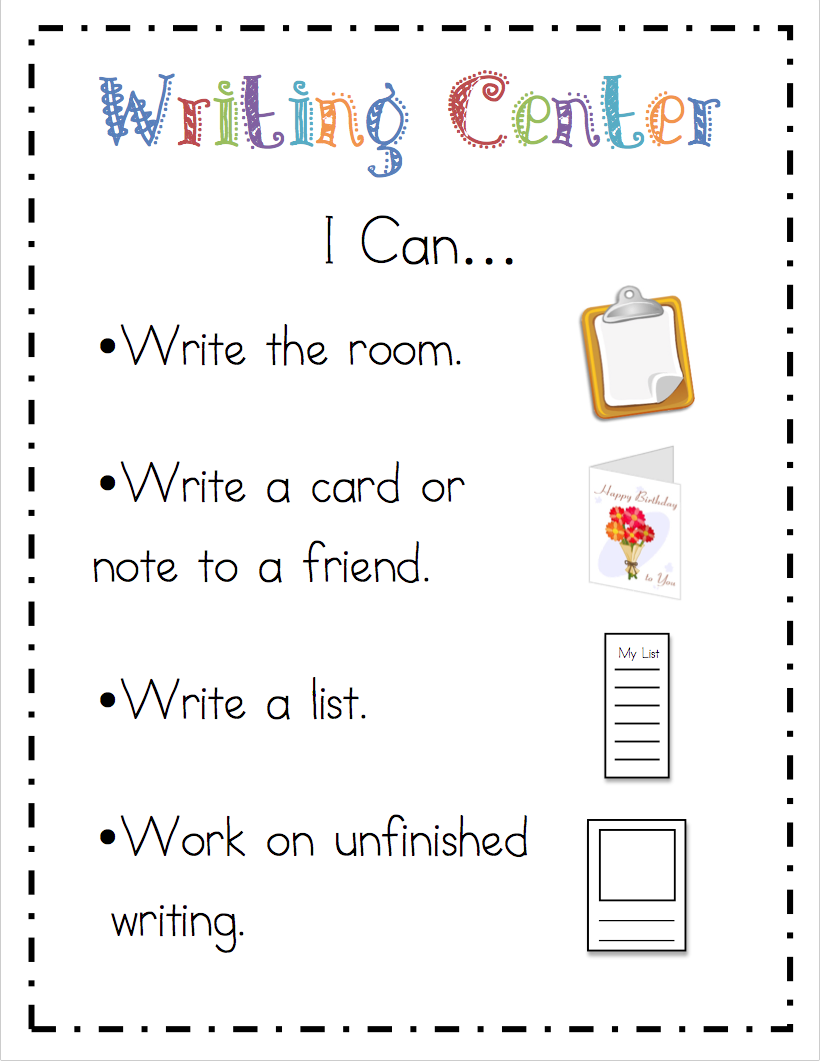 "Mrs Ricca's Kindergarten: Literacy Center ""i Can"" Cards {freebie"