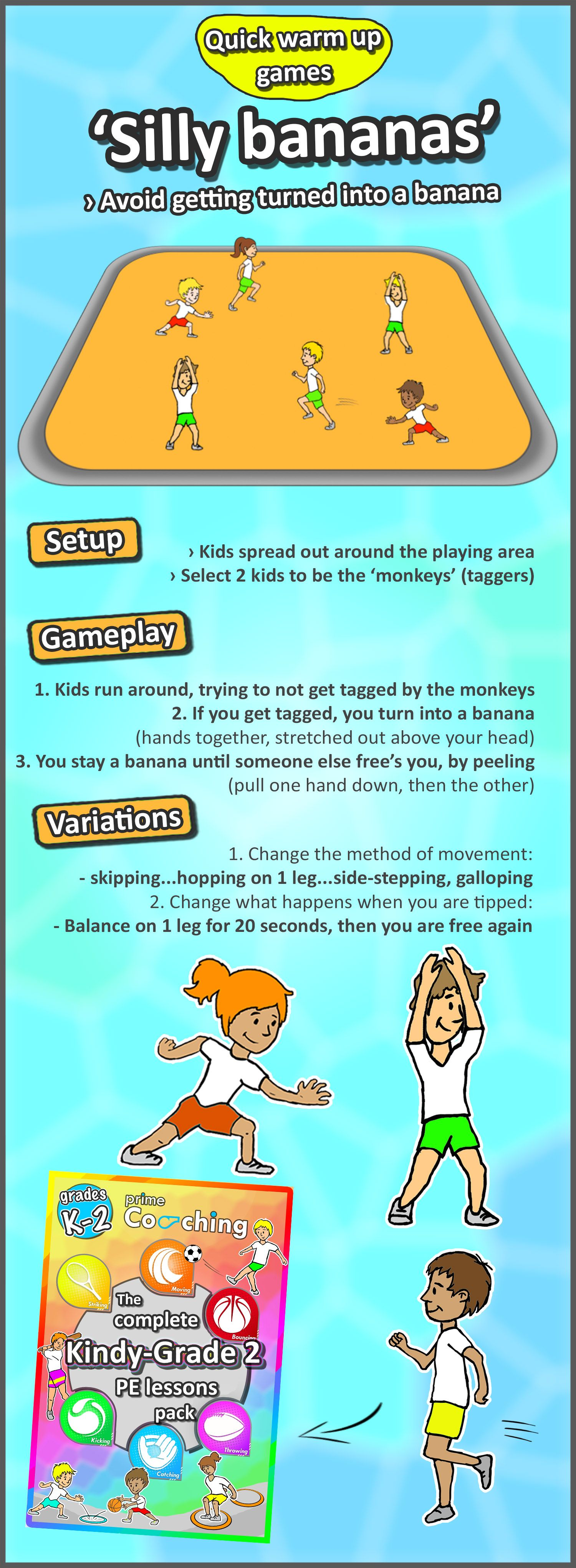 Kindergarten To Grade 2 Pe Games - Complete Sport Skill And Games