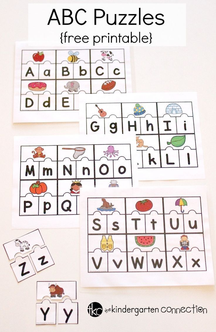 Printable Abc Puzzles For Pre-k And Kindergarten | English Teaching