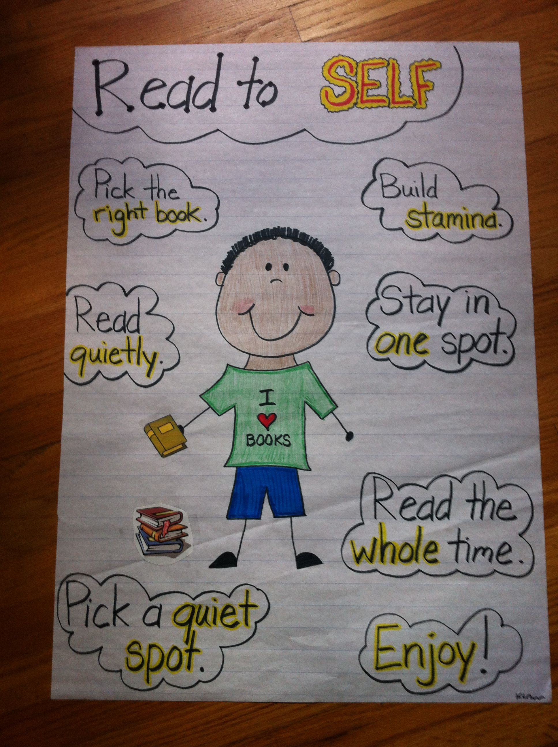 Read To Self   Daily Five Reading Strategies   Kindergarten Anchor