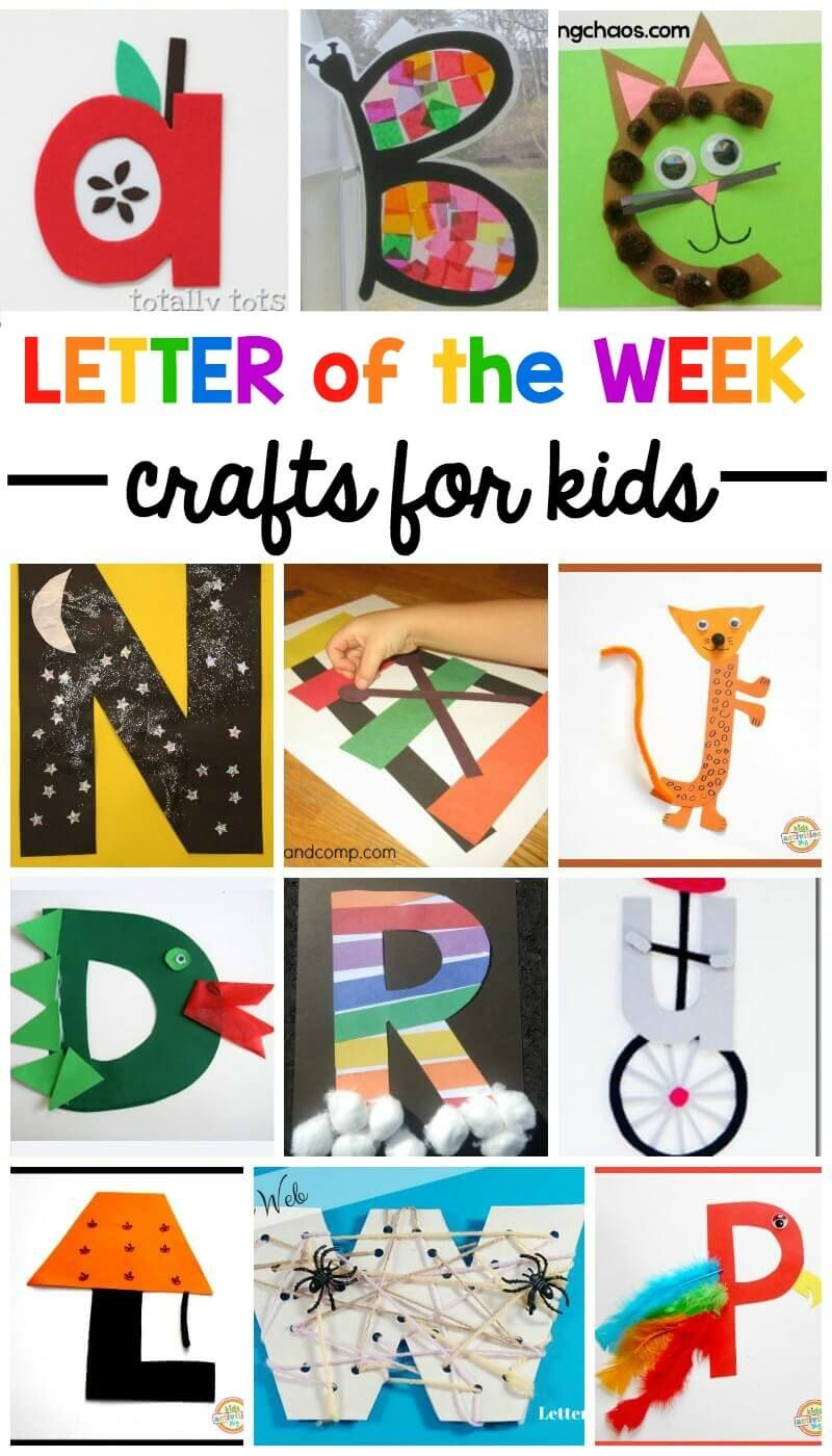 A-z Letter Of The Week Crafts | Alphabet Activities | Kindergarten