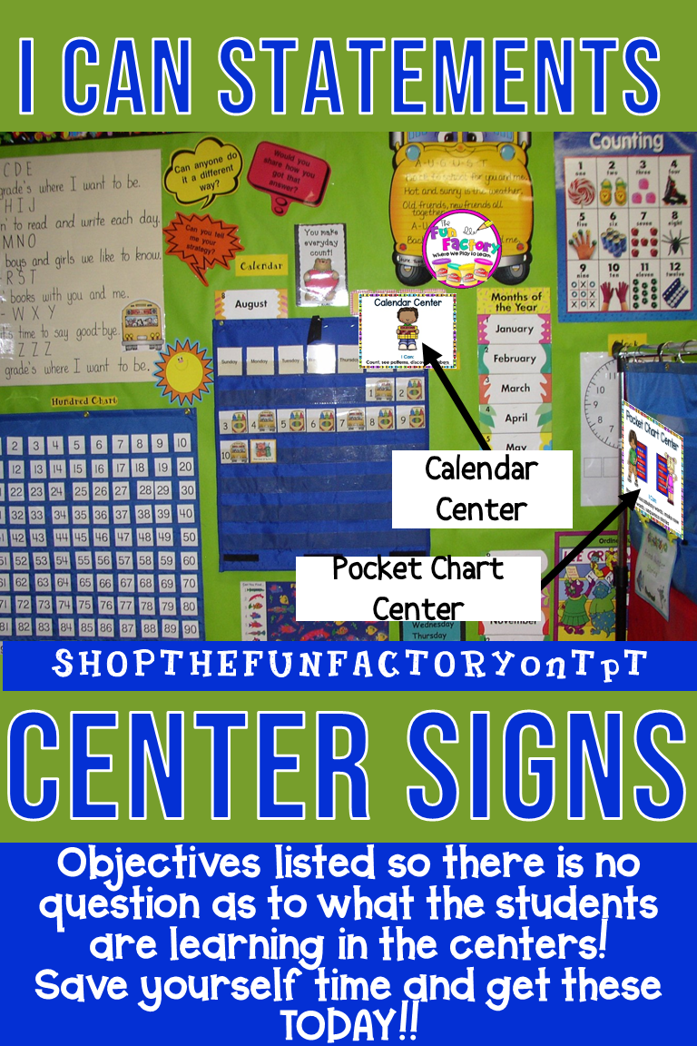 Center Signs With Objectives And Editable For Prek And Kindergarten