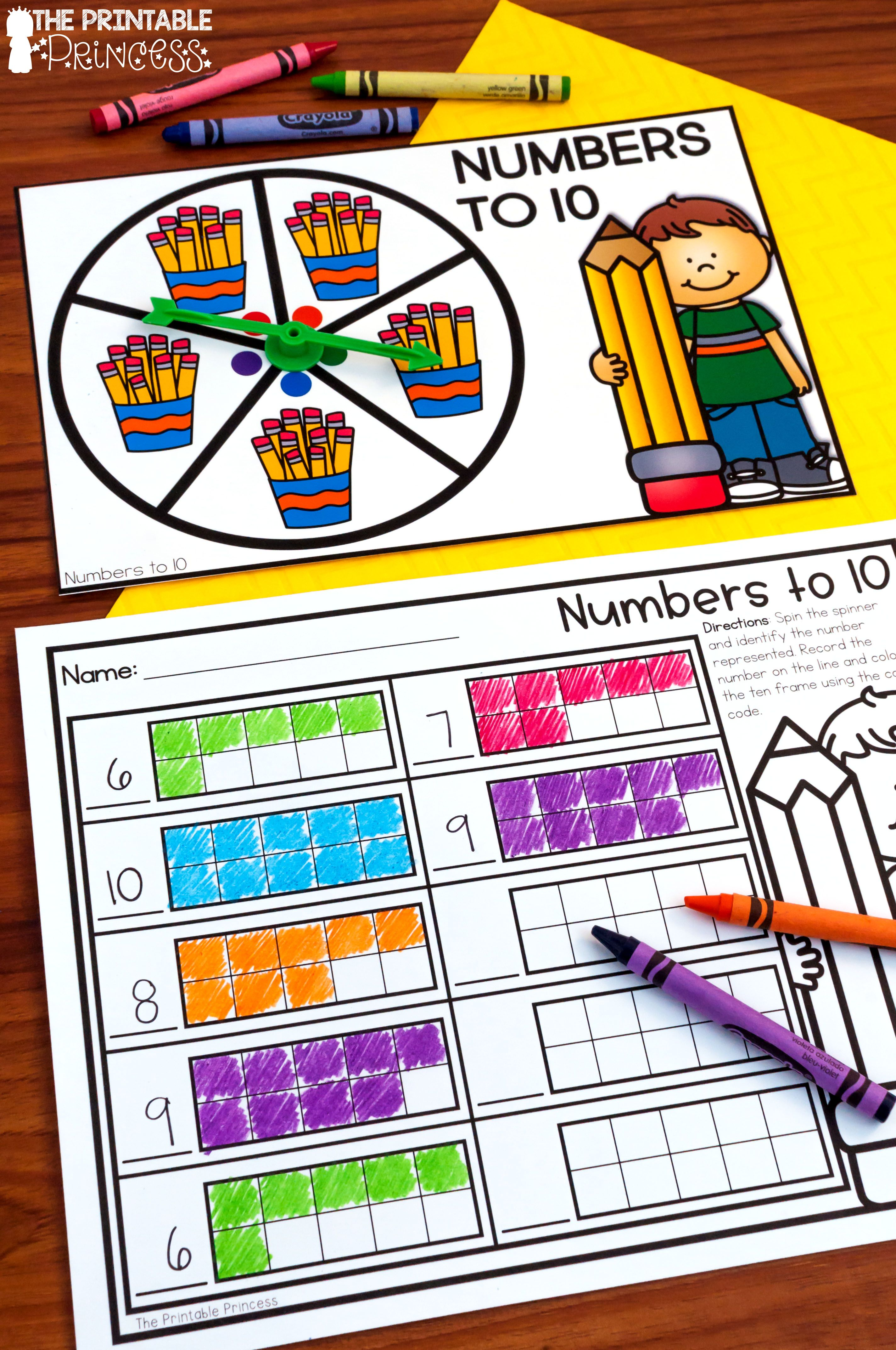 Kindergarten Math Centers: Year Long Activities | My Products On Tpt