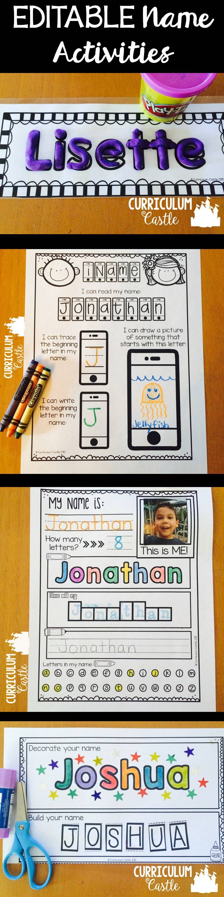 Name Activities Editable | Lal | Name Activities, Kindergarten Names