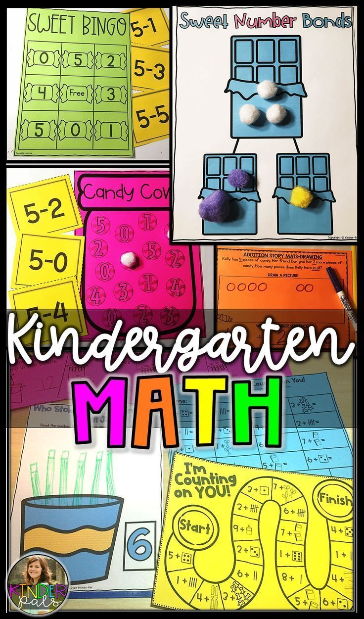 Kindergarten Math Centers And Games For The Entire Year   Math