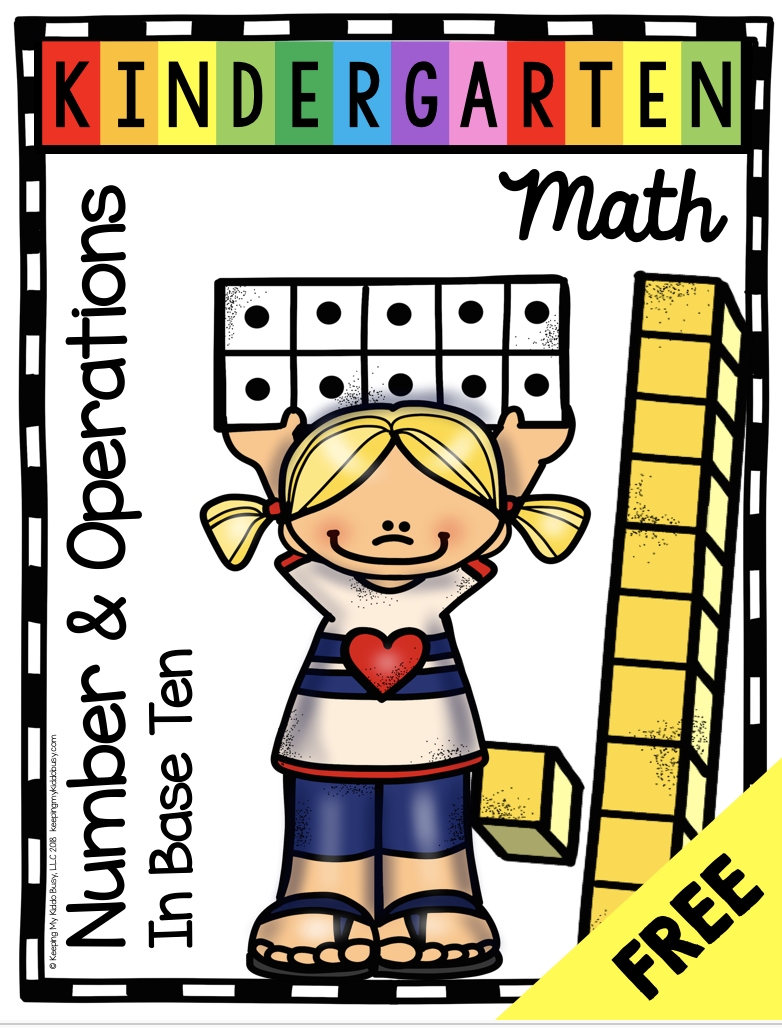 Free Math Posters - Kindergarten Common Core Domains | April In