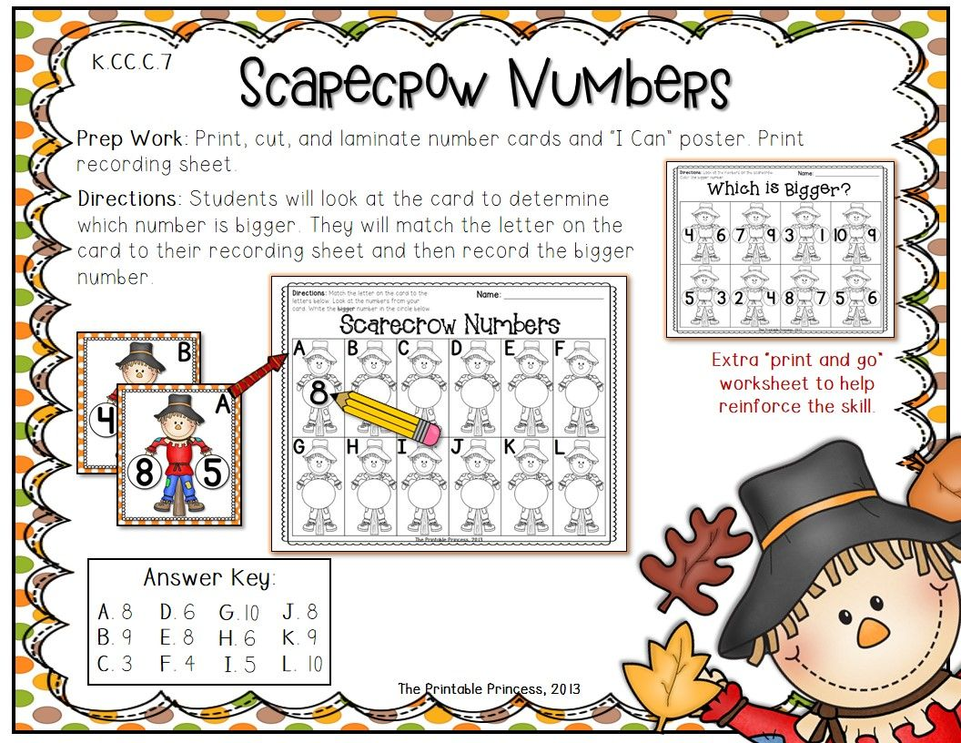 Fall Activities For Kindergarten: Math And Literacy Centers | Those