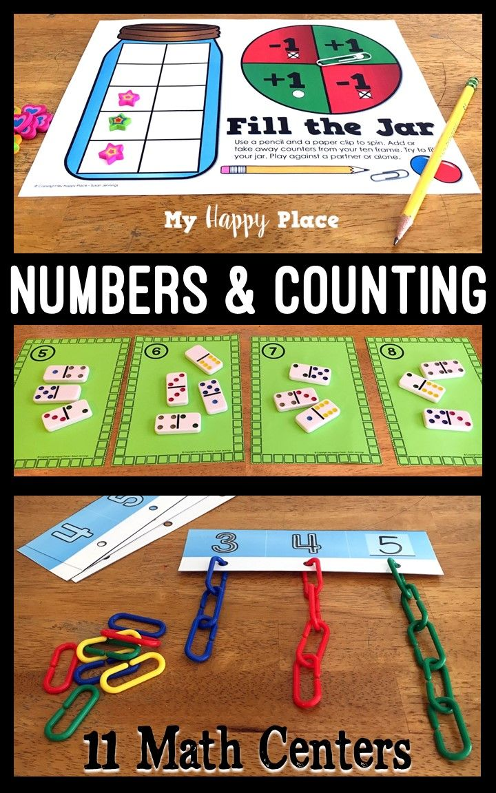 Kindergarten Math Centers - Numbers And Counting 0-10 | Kiddos