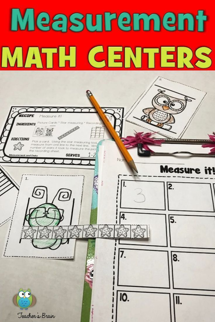 Math Centers Kindergarten - Measurement And Data Worksheets And