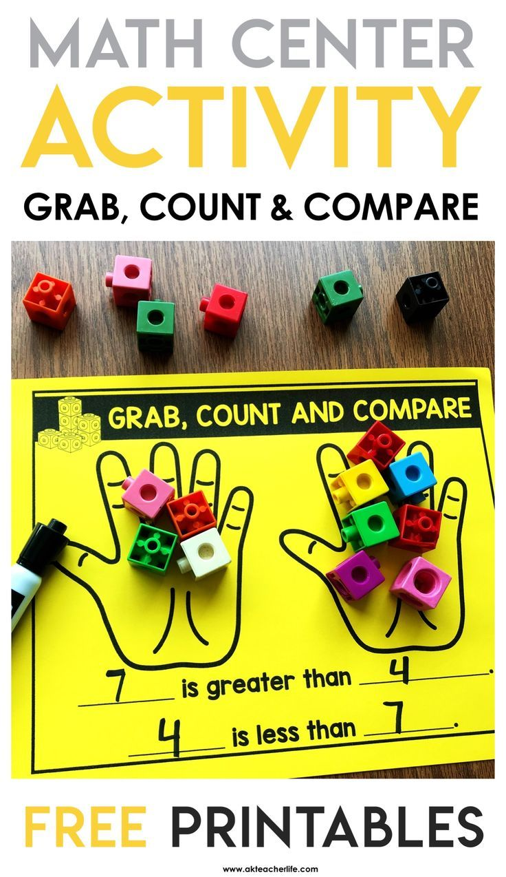 Comparing Numbers Math Centers! Freebie Included | Kindergarten
