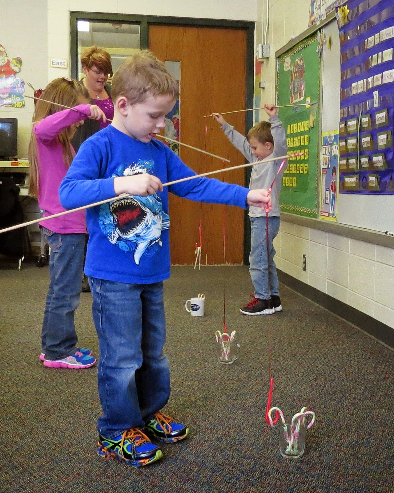 Candy Cane Fishing More | Kindergarten Crafts | Christmas Party