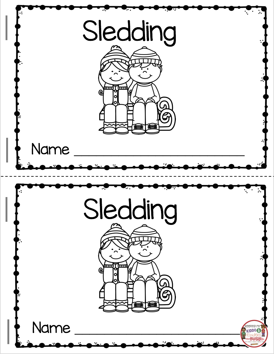 Reading And Writing In January | Autism Ideas | Kindergarten Reading