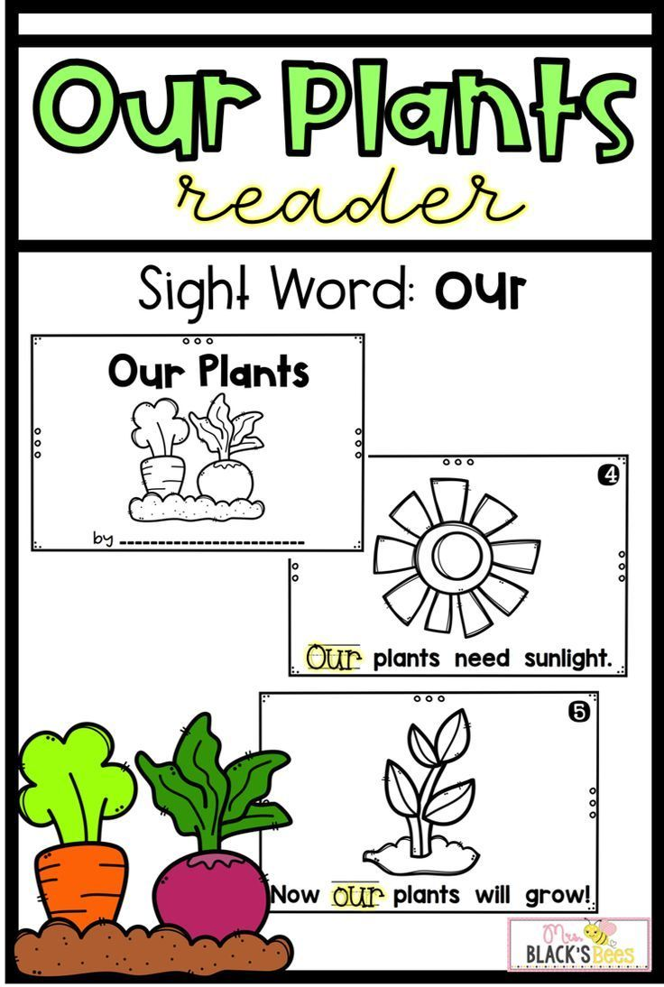 Plants Reader | Kindergarten | Emergent Readers, Kindergarten