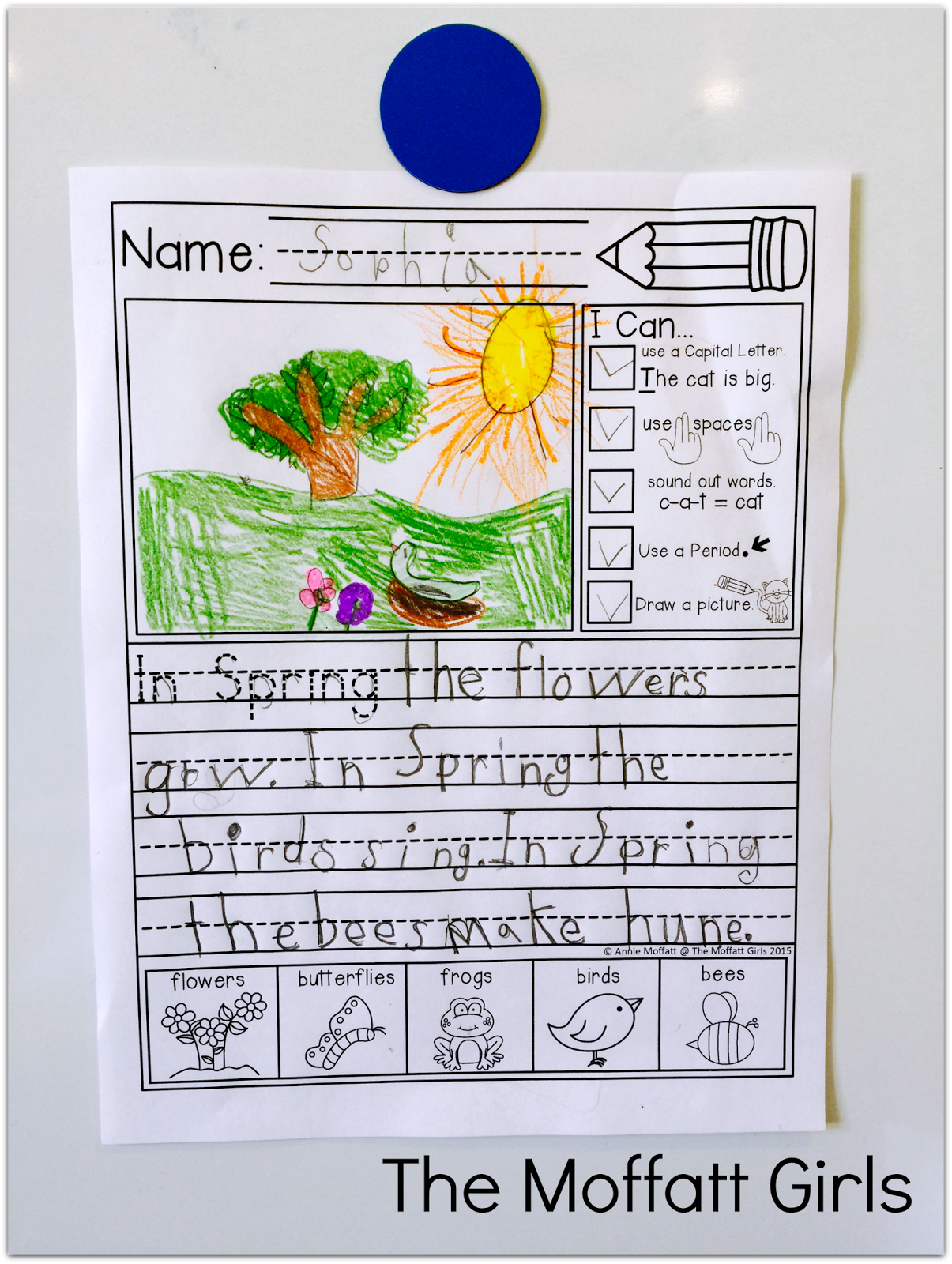 Kindergarten And 1st Grade Writing! Journal Prompts With I Can