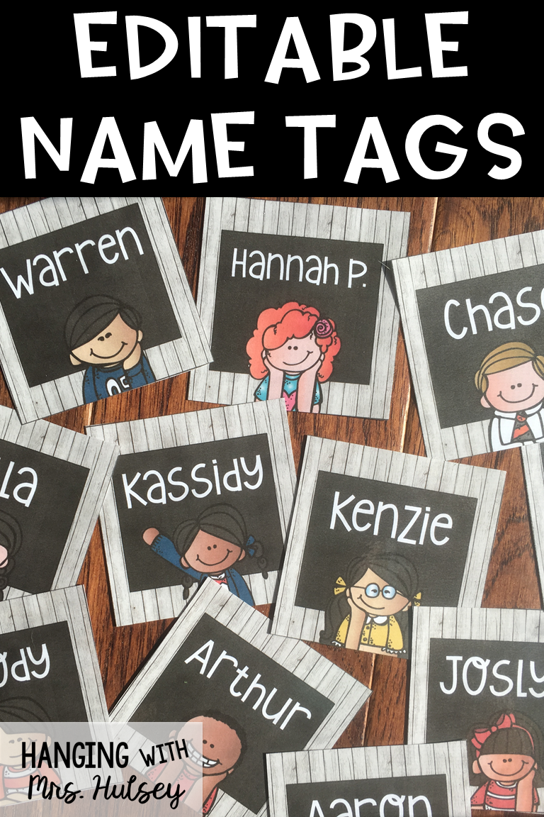 Editable Square Name Tags Or Labels | Third Grade | Kindergarten