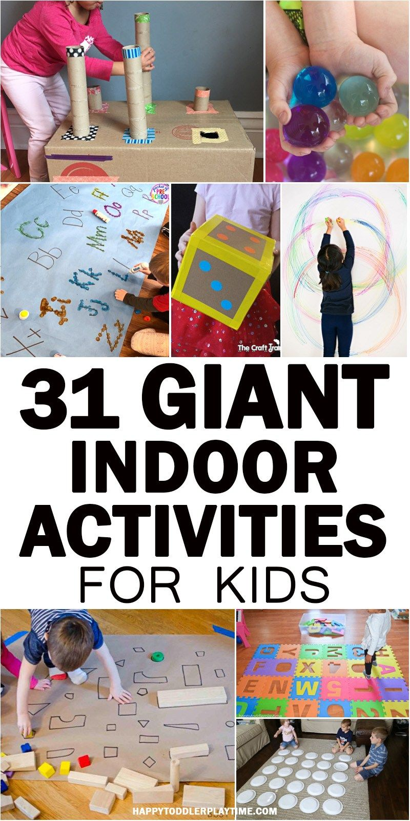 31 Giant Indoor Activities For Kids | Kindergarten Lib | Activities