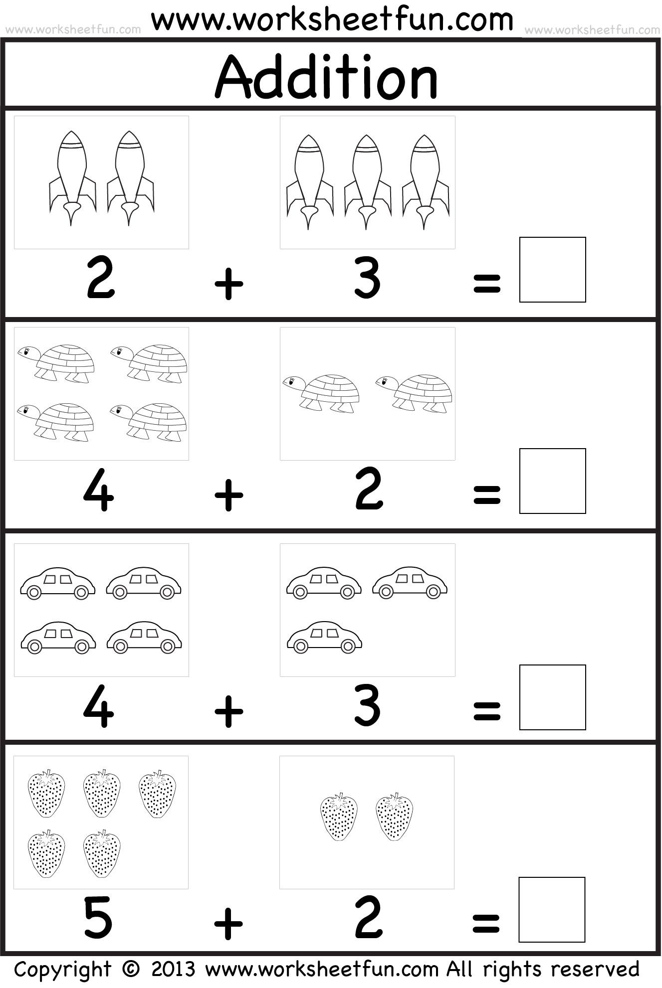 Addition Worksheet | Kukuly | Kindergarten Math Worksheets, Free