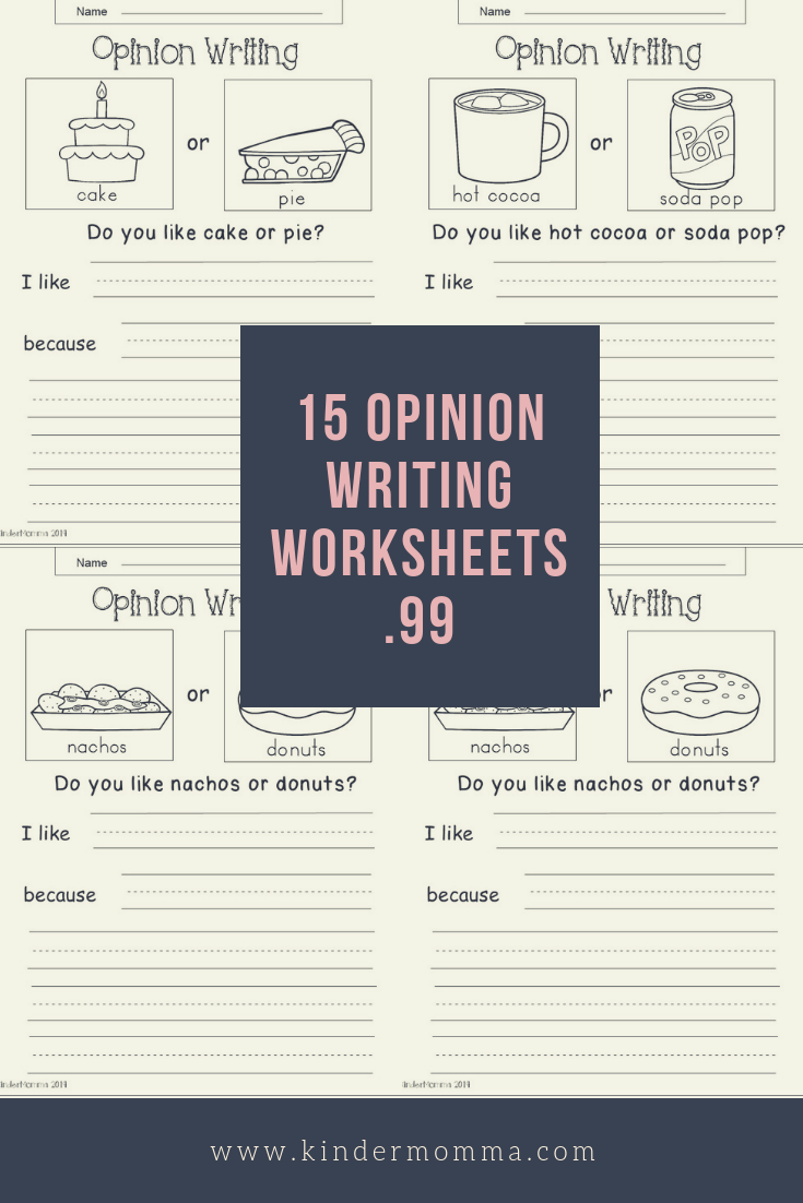 Opinion Writing Bundle | Writing | Kindergarten Writing Activities