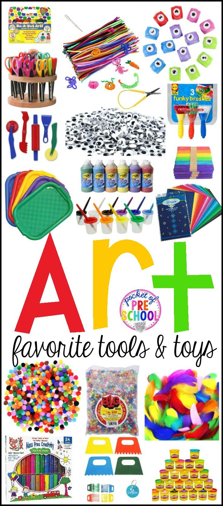 Favorite Art Tools And Toys For Preschool & Kindergarten | Proyectos