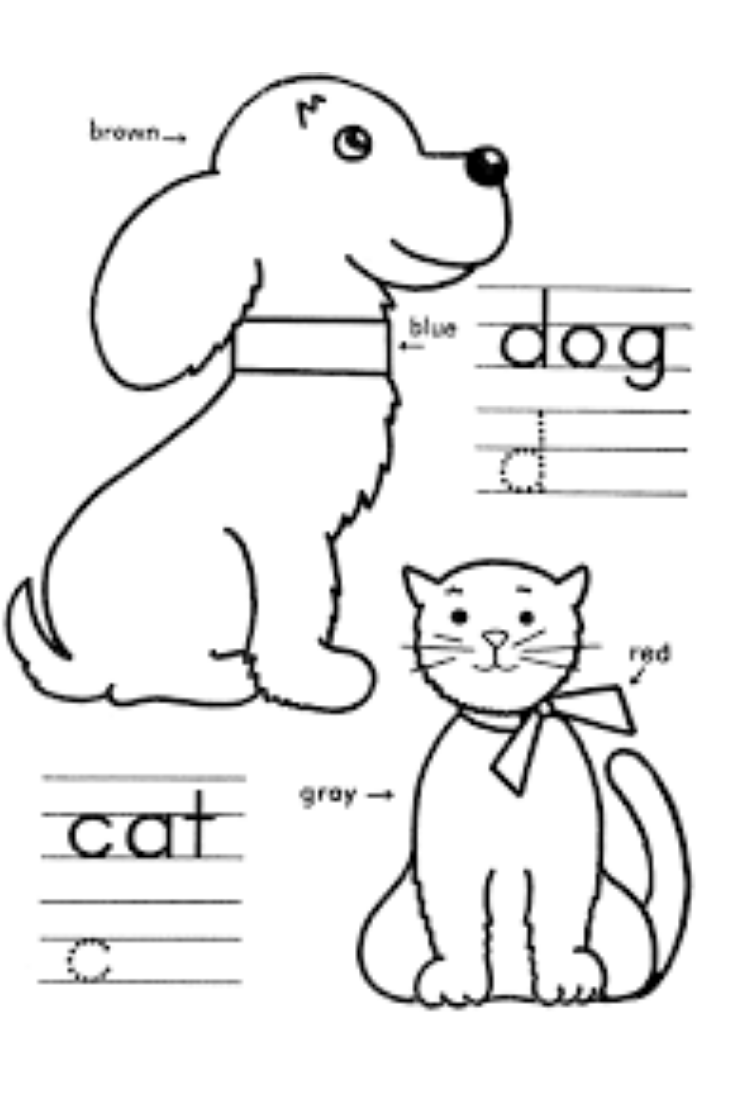 Kindergarten Coloring Pages Learning | Kindergarten Coloring Pages
