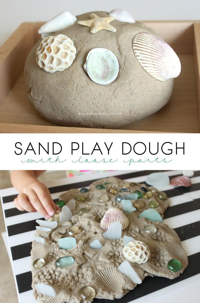 Sand Play Dough With Loose Parts | Kindergarten | Sand Play Dough