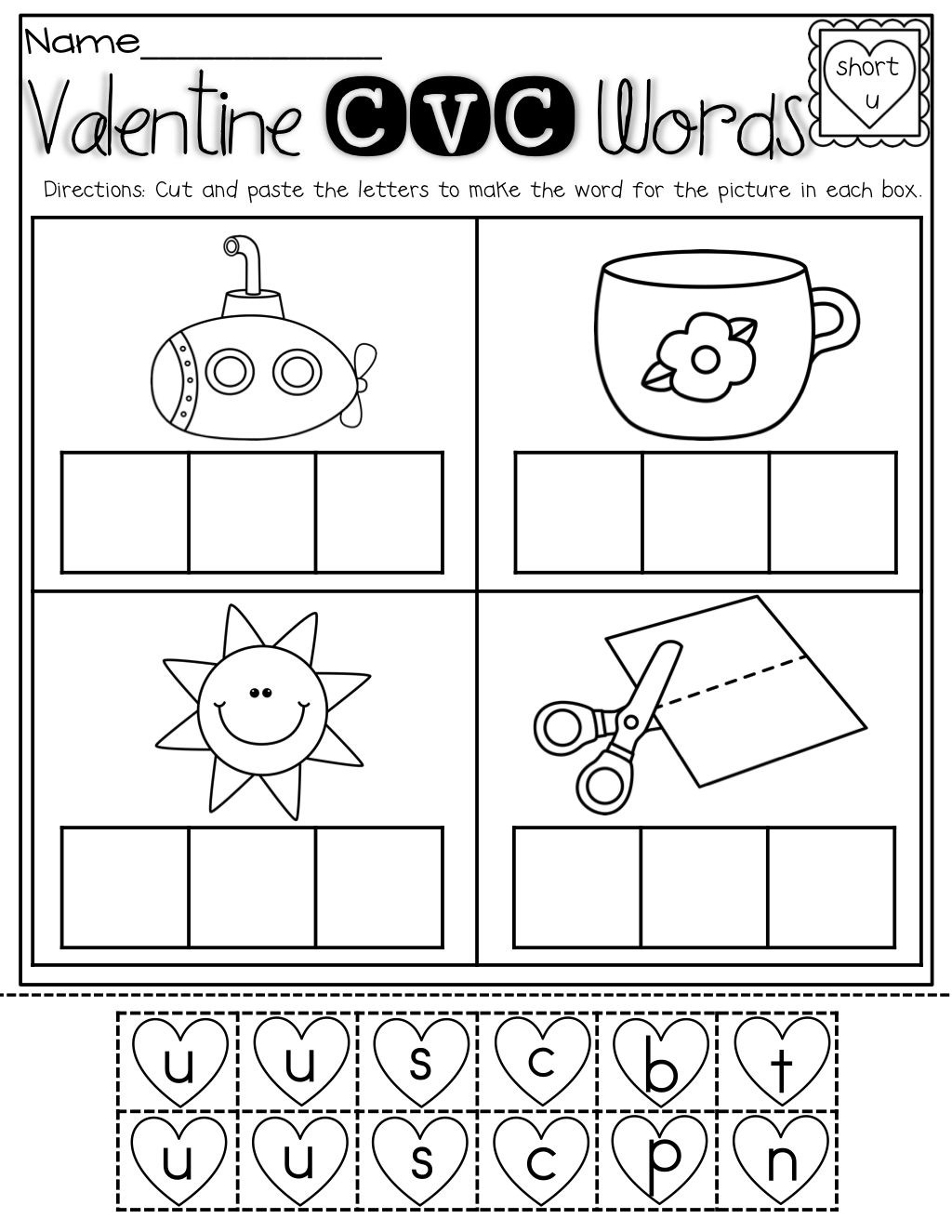 February No Prep Packet (kindergarten) | é�i Lé�v Spitê�