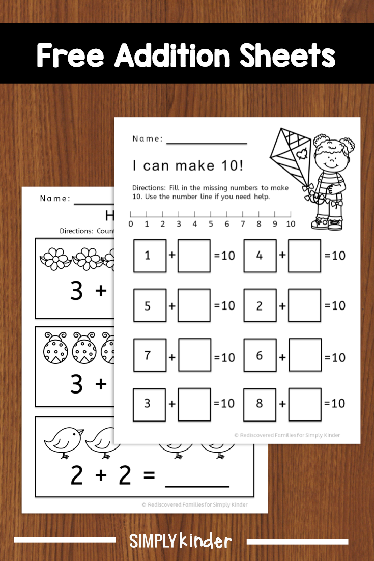 Kindergarten Math Activity: Fun With Addition Worksheets   Simply