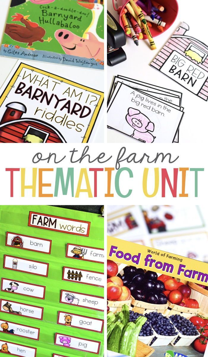 Farm Theme For Preschool, Pre-k And Kindergarten | Elementary