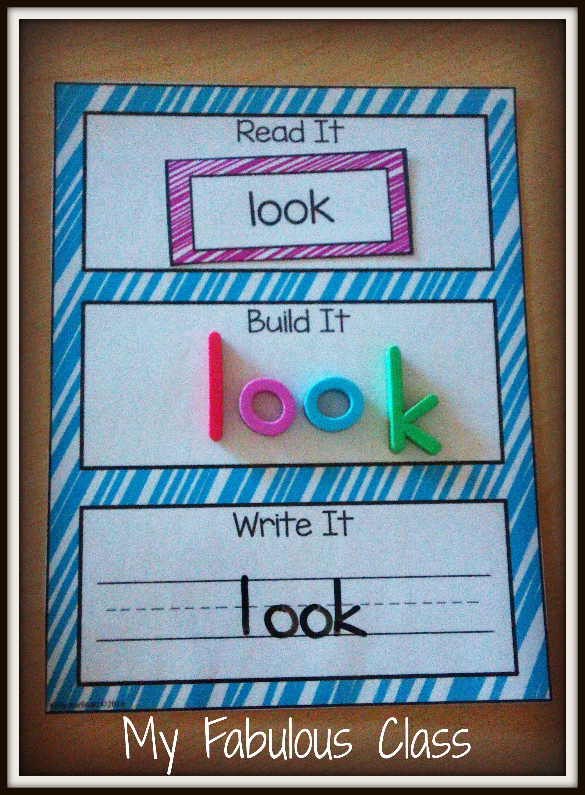 Read It, Build It, Write It Sight Words | Preschool | Kindergarten