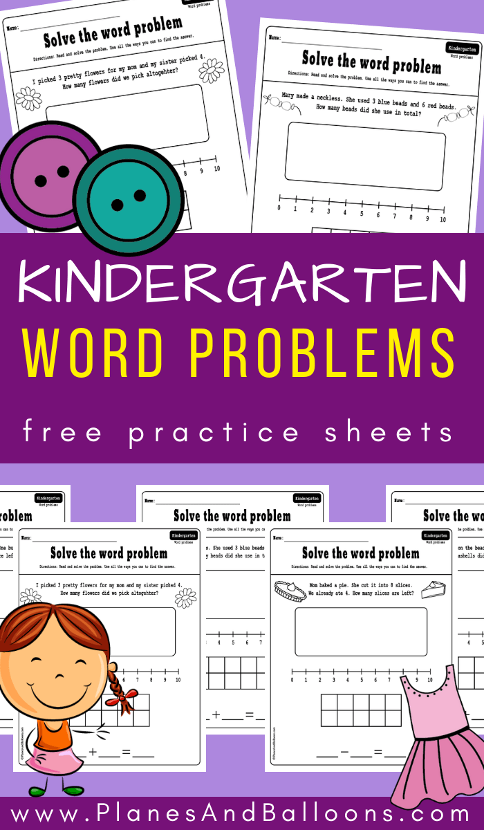 Kindergarten Math Word Problems: Addition And Subtraction To 10 | K