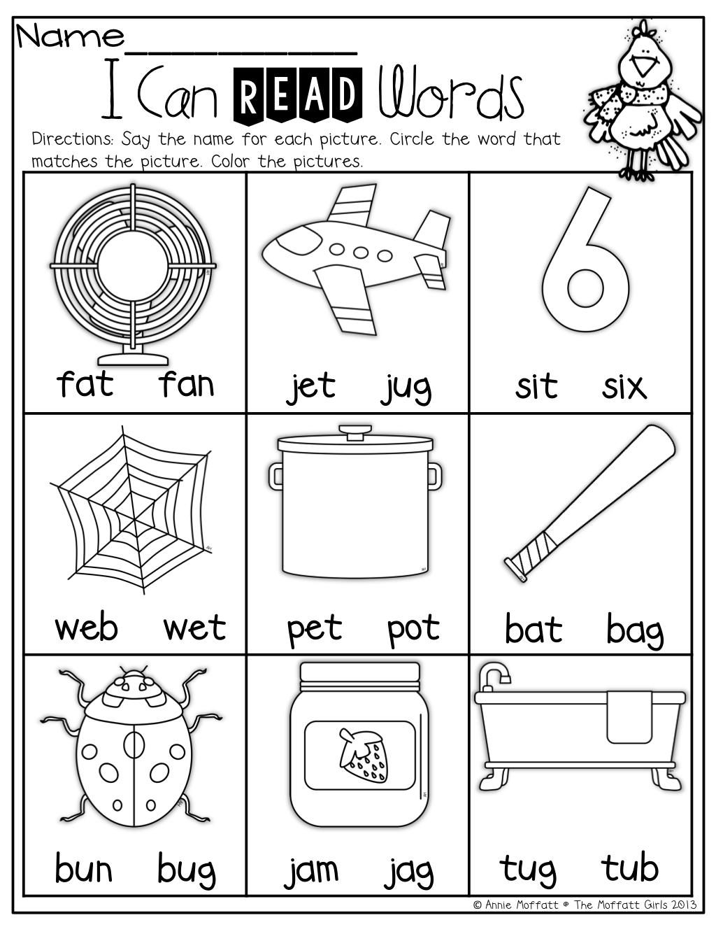I Can Read Words! | Cvc | Kindergarten Worksheets, Kindergarten