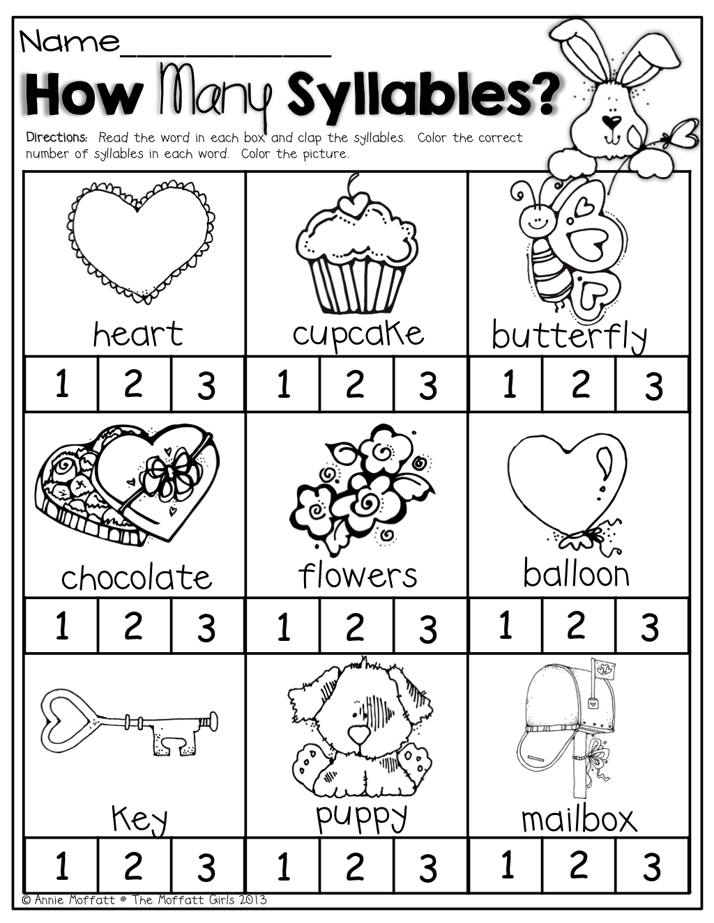 February No Prep Packet (kindergarten) | Literacy Block