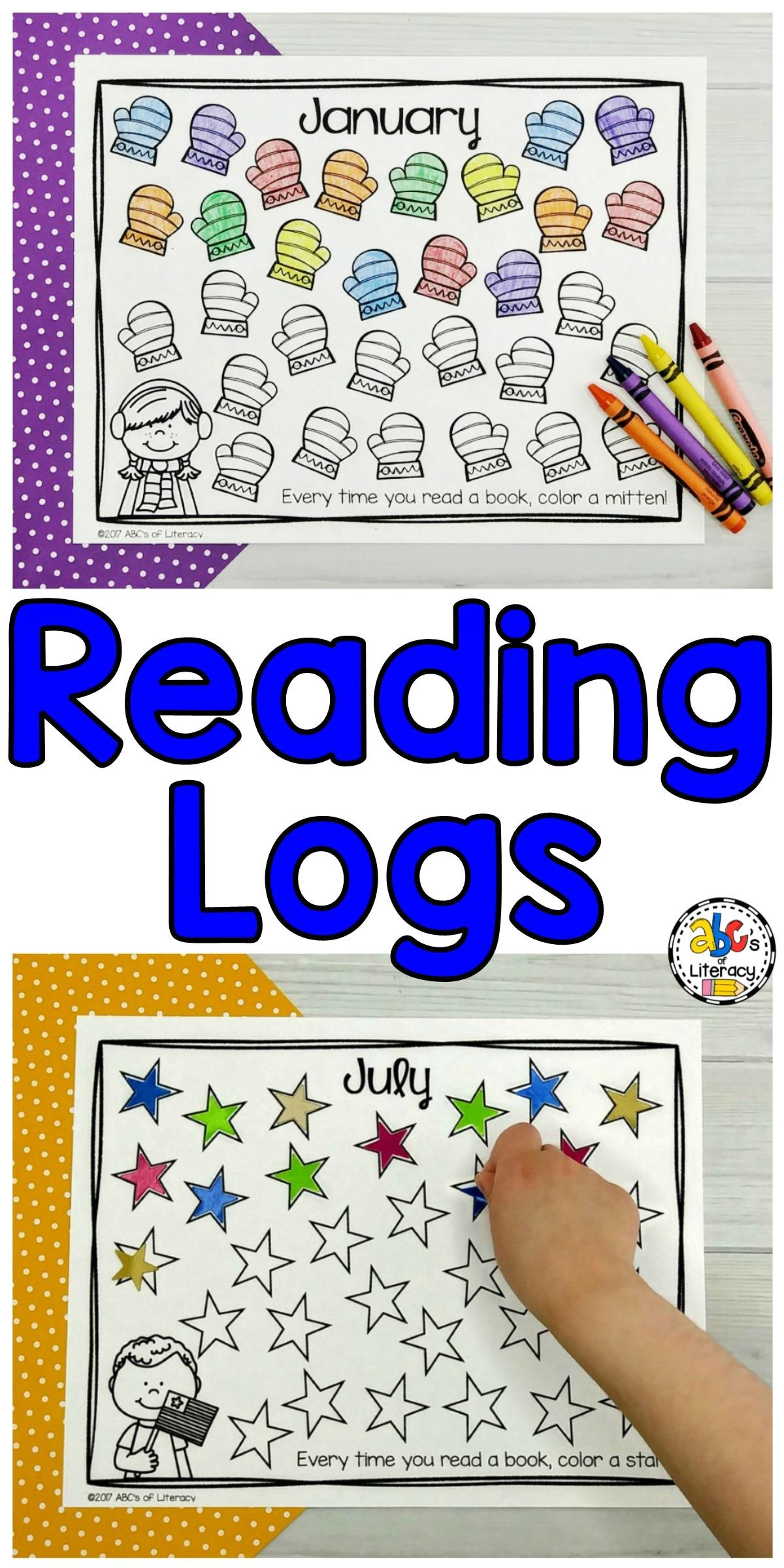 Monthly Reading Logs | Homeschool | Reading Logs, Kindergarten, Reading