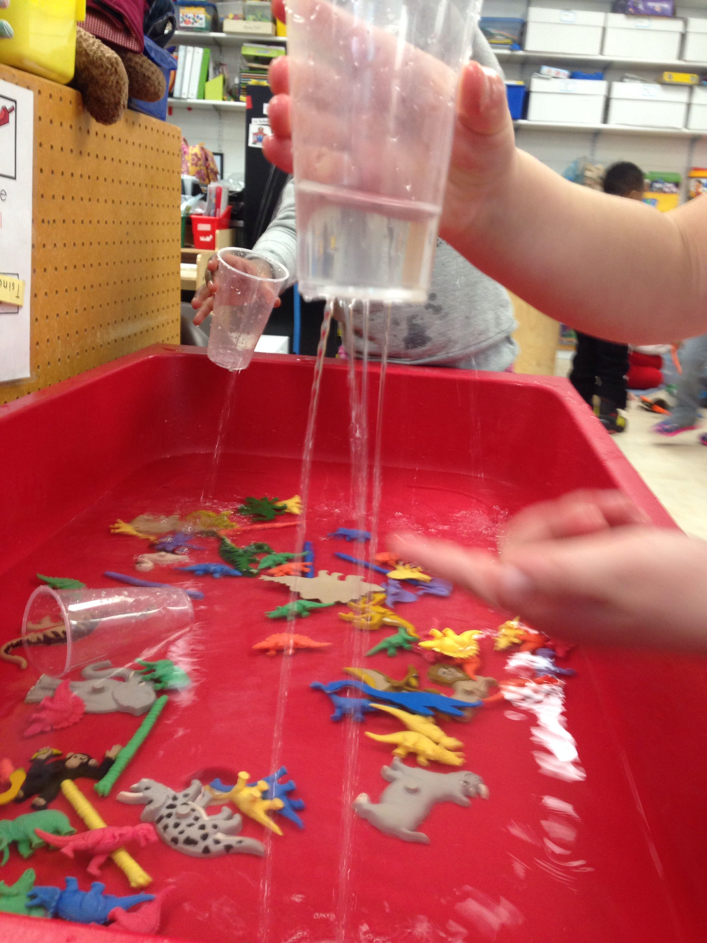 """It's Raining"""" Station For The Sensory Table In Pre-kindergarten Add"""