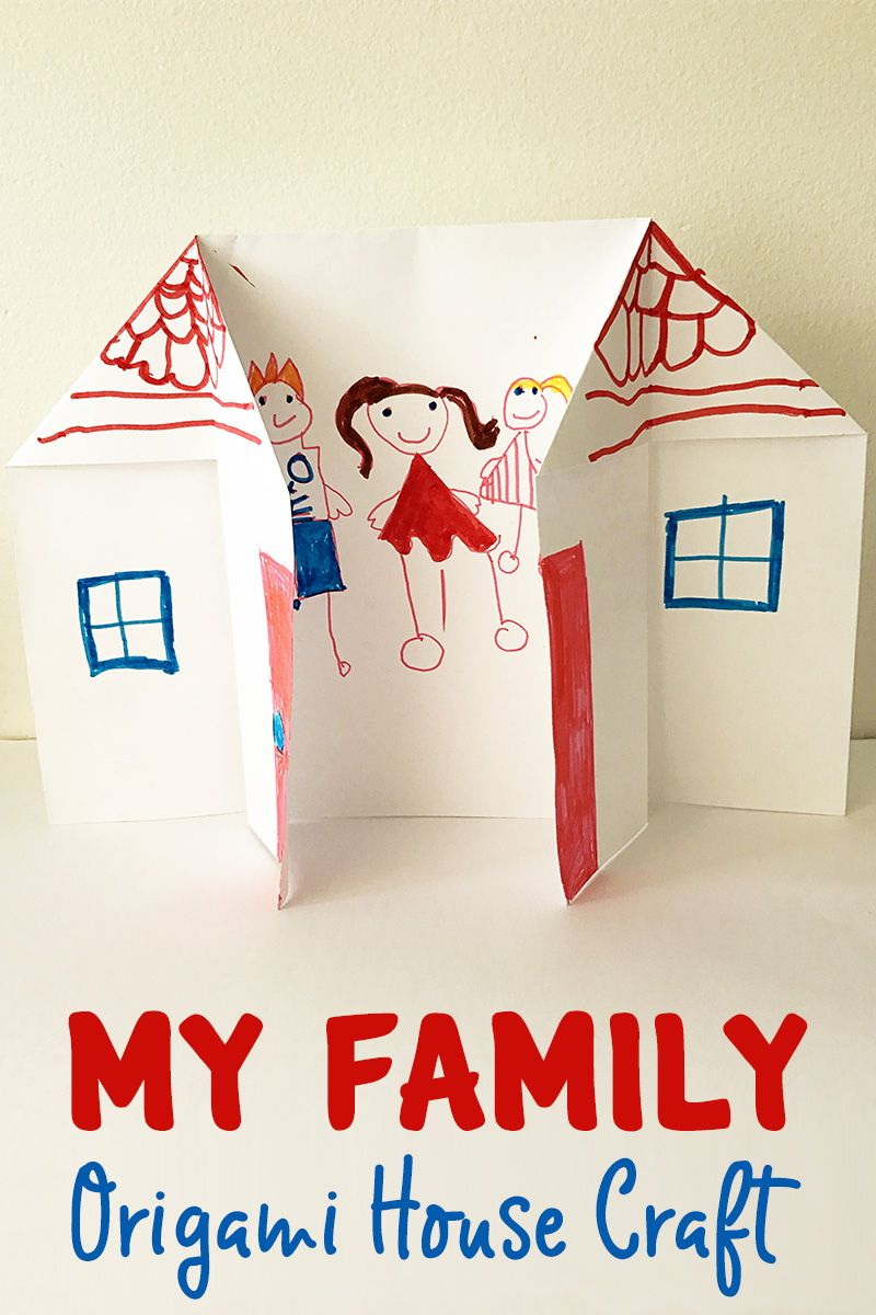 Learning About Families: Origami House Activity | Kindergarten Ideas