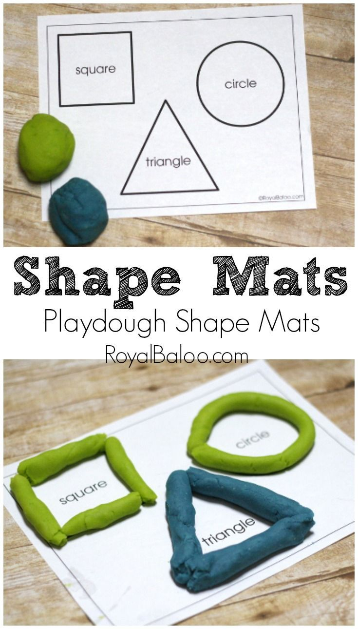 Learn Shapes And Fine Motor Skills With Playdough | Kindergarten