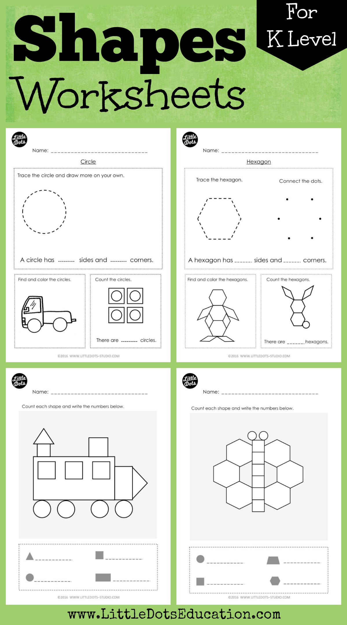Download Shapes Worksheets And Activities For Kindergarten Level