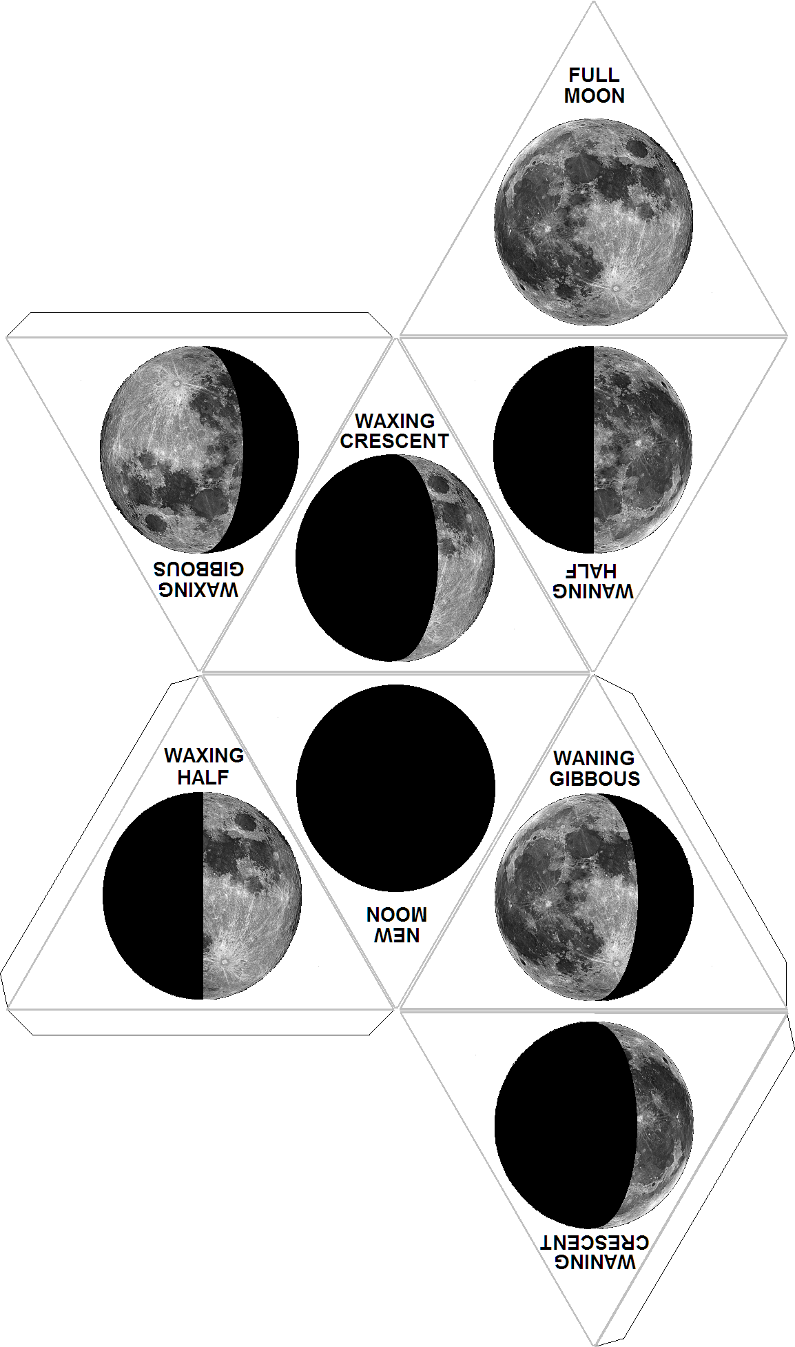Moon Phases Dice | Kindergarten | Moon Projects, Science Classroom