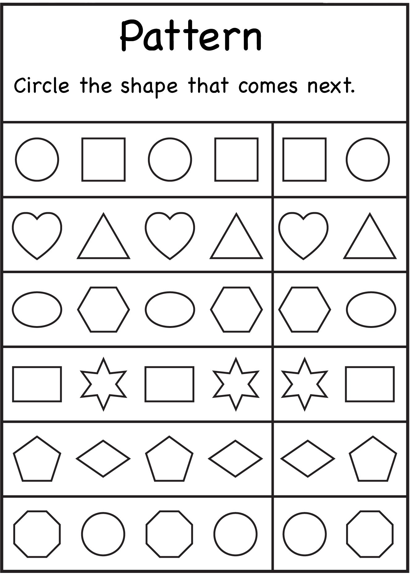 Kindergarten Worksheets | Math | Preschool Worksheets, Kindergarten