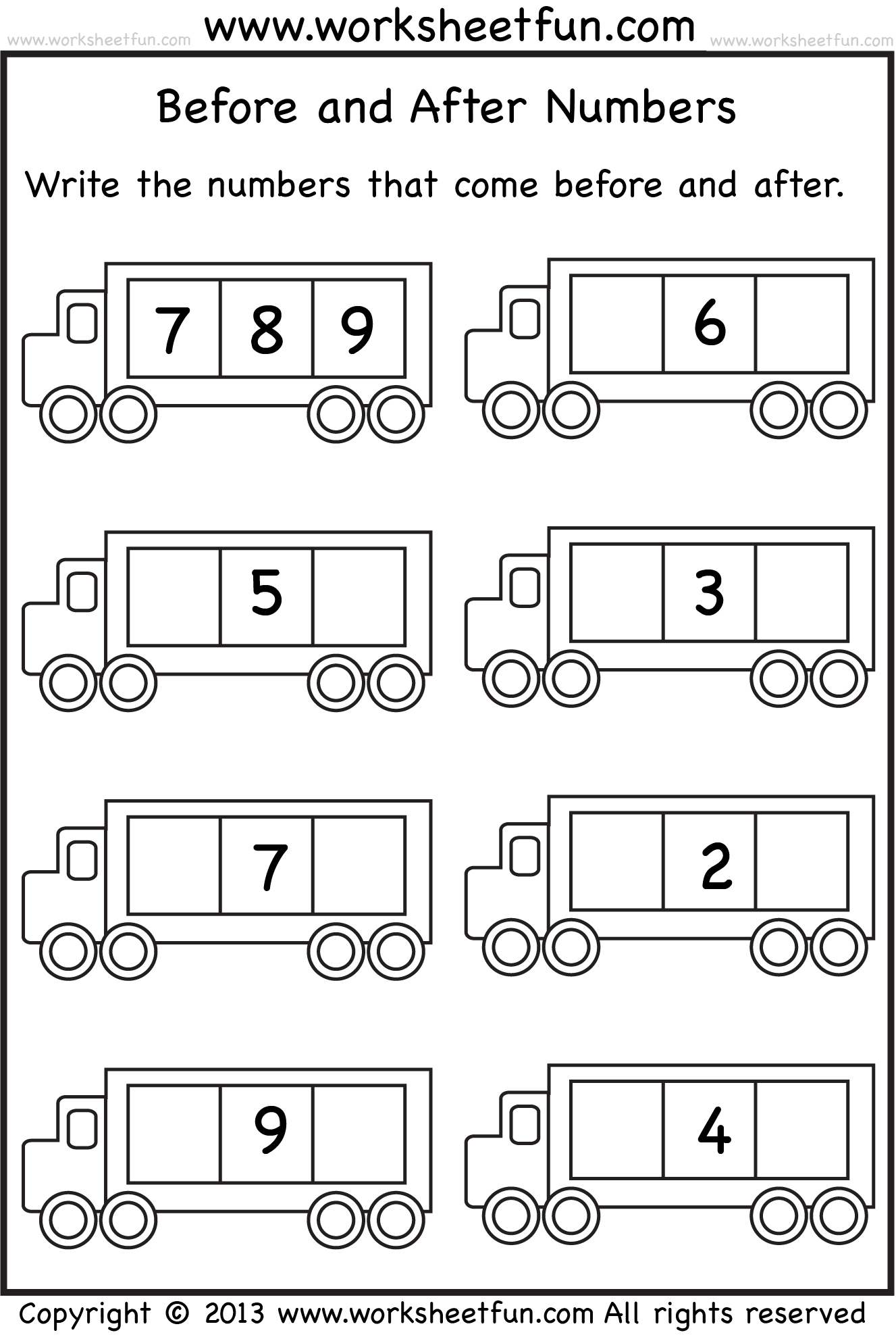 Before_and_after_wfun_two_ | Bailey | Kindergarten Math Worksheets